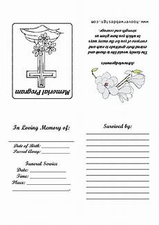 Memorial Pamphlet Template Free 7 Best Images Of Free Printable Memorial Service Templates
