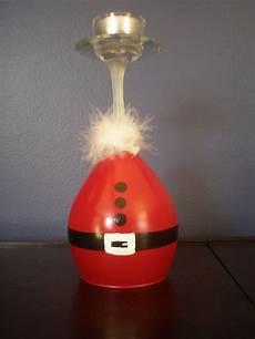 Christmas Wine Glass Tea Light Holders Santa Wine Glass Candle Holder By Klt1980 On Etsy