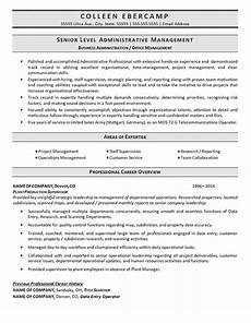 Example Of Business Resume Business Administration Resume Example