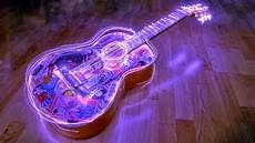 Neon Light Guitar Neon Guitar Full Hd Desktop Wallpapers 1080p