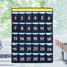 Pocket Chart Hooks Numbered Classroom Pocket Chart For Cell Phones Calculator