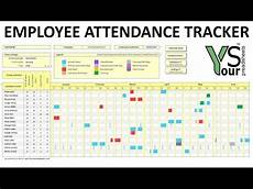 Employee Attendance Tracker Excel 2020 Annual Leave Planner Doovi