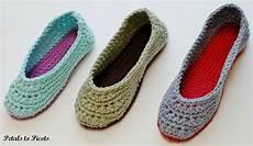 crochet pattern slippers s sizes 4 5 6 7