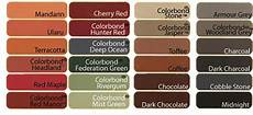 Roof Paint Colour Chart Colorbond Roof Tile Painting In Melbourne