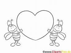 Valentinstag Malvorlagen Zum Ausdrucken In Bienchen Mit Herz Bilder Zum Ausmalen