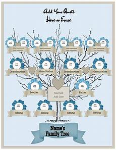 Family Template 4 Generation Family Tree Template Free To Customize Amp Print