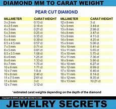 Pear Shaped Diamond Mm Size Chart Pin On Diamond Size