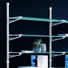 scaffale vetro elliot scaffale a parete in acciaio bianco e vetro 196 x