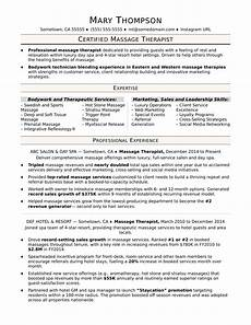 Spa Therapist Cv Therapist Resume Sample Monster Com