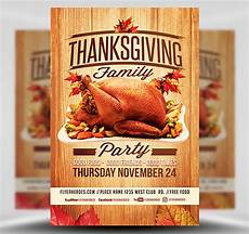 Thanksgiving Flyers Thanksgiving Family Party Flyer Template Flyerheroes