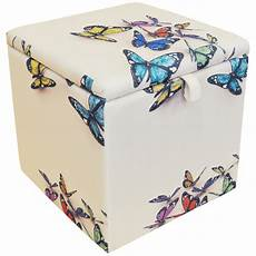butterfly square storage ottoman stool blanket box