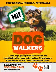 Dog Walker Flyers Copy Of Dog Walkers Flyer Postermywall