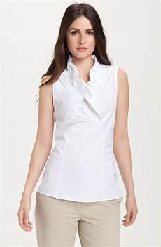 sleeveless ruffle blouse lafayette 148 new york lorelai ruffled sleeveless blouse