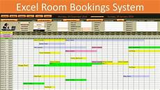 Booking Schedule Template Excel Room Bookings Calendar Youtube