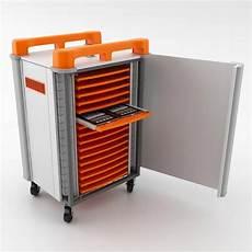 mobile tablet cabinets 32 ports horizontal storage aj