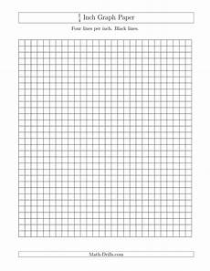 Free Printable Graph Paper 1 4 Inch 1 4 Inch Graph Paper With Black Lines A