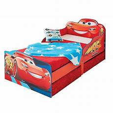 disney cars lightning mcqueen junior toddler bed with