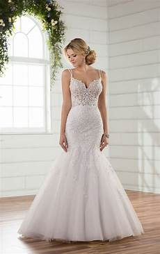 mermaid wedding dresses sheer mermaid wedding gown
