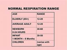 Normal Respiration Rate For Adults Chart What Is The Average Respiratory Rate For Adults