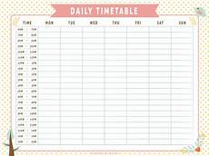 Daily Timetable Template Daily Timetable Whimsical By Apparate On Deviantart