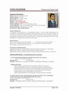 Cv Civil Engineer Sample Cv Of Civil Engineer Pakistan Engineer