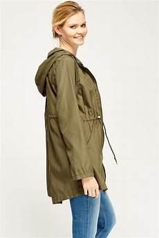 khaki parka waterproof thin jacket just 6