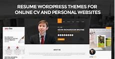 Online Resume Websites Resume Wordpress Themes For Online Cv Amp Personal Websites