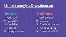Examples Of Strengths And Weaknesses Interview 2019 Strengths Amp Weaknesses For Job Interviews Best Answers