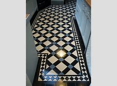 Victorian tiles for floors and walls in our Bristol showroom.
