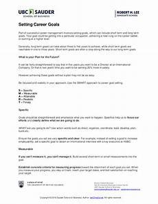 Examples Of Career Goals 9 Goal Setting Examples For Work Pdf Examples