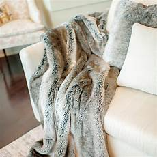 signature series faux fur throw grey rabbit fabulous