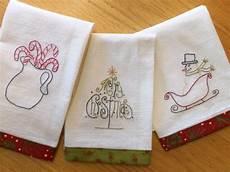 Christmas Tea Towel Embroidery Designs Christmas Tea Towel Embroidery Pattern Tea Towels