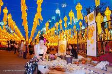 Lanterns And Lights At Chiang Mai Road Yee Peng Festival Yi Peng Chiang Mai Lantern Festival