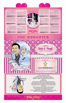 desain undangan pernikahan kalender unik contoh undangan pernikahan unik contoh undangan