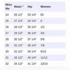 Women S Jean Size Conversion Chart Miss Me Jeans Size Chart Conversion Poshmark