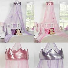 childrens princess crown bed canopy insect