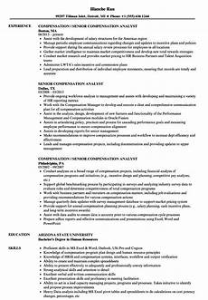 Compensation Analyst Resumes Senior Compensation Analyst Resume Samples Velvet Jobs