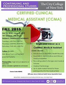 Certified Medical Assistant Qualifications Certified Clinical Medical Assistant The City College Of