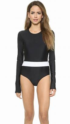 sleeve swimsuit lyst cover sleeve swimsuit black white in black