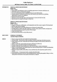 Receptionist Skills List Resumes Medical Receptionist Resume Ipasphoto