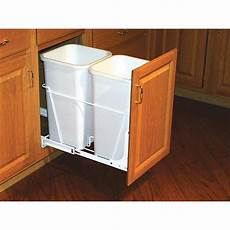 rev a shelf 27 quart plastic pull out trash can at lowes