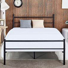 vecelo metal bed frame platform bed w headboard