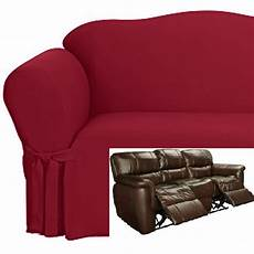 dual reclining sofa slipcover cotton burgundy sure fit
