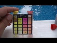 Swimming Pool Test Chart How To Test Swimming Pool Water Chlorine And Ph Level With