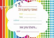 Free Online Party Invitations Templates Free Rainbow Birthday Invitations Free Printable