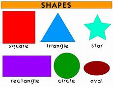 Shape Chart For Toddlers Shapes For Kids Teaching Shapes With Flashcards