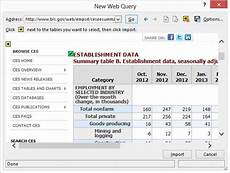 Excel Web Query How To Run A Web Query In Excel Dummies