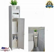 narrow wood floor bathroom storage cabinet holder
