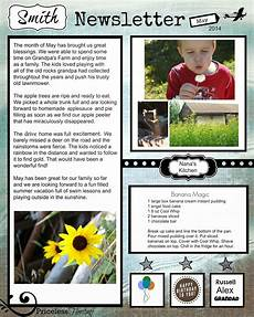 Holiday Family Newsletter Templates Priceless Heritage Family Newsletter Templates