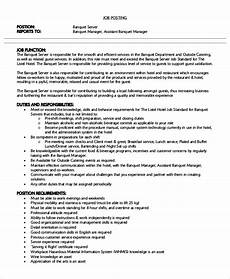 Banquet Resume Sample Sample Server Resume 7 Examples In Word Pdf